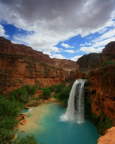 Havasu Falls from the Havasupai Trail