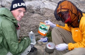 Cooking a Prepackaged Backpacking Meal