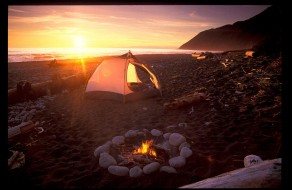 Beach Campfire by Buck Forester