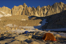 Trail Camp along the Mount Whitney Trail