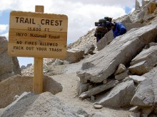 Trail Crest of the Mount Whitney Trail
